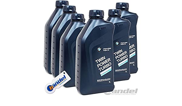 Twin Power Turbo Aceite para motor, BMW Original 5 W-50, Longlife 04, 6 x 1 l: Amazon.es: Coche y moto