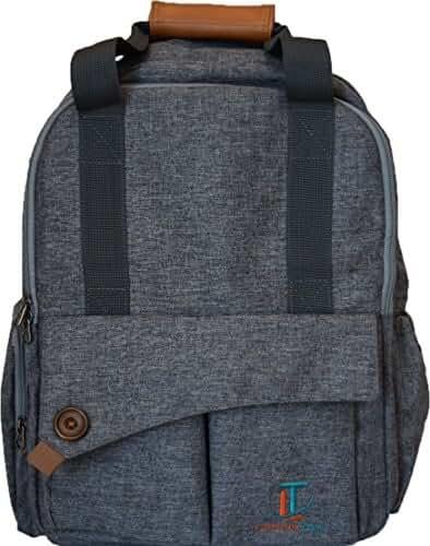 Laguna Tide Travel Diaper Bag Backpack w/ Padded Infant Changing Mat | 12-Pocket Trendy Designer Tote w/ Adjustable Shoulder Straps, Removable Stroller Straps | Waterproof Carryall
