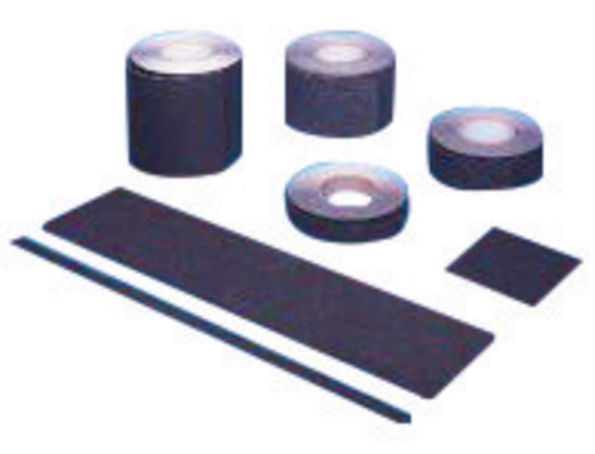 Mutual Industries 2' X 60' Black Aluminum Oxide Non Skid Tape Grit Tape