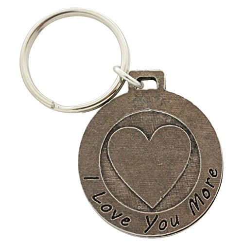 Creative Pewter Designs, Pewter I Love You More Key Chain, Antiqued Finish, A1022KC by Creative Pewter Designs (Image #2)