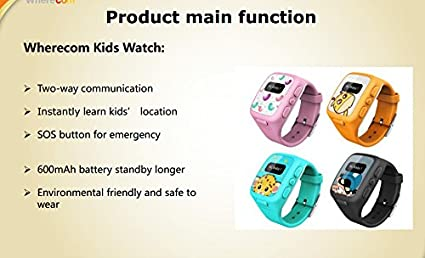Amazon.com: Lp Zero Radiation Gps Tracker Kids Watch for Children Smart Watch Sos Emergency Anti Lost Gsm Phone App Bracelet Wristband Alarm ISO ...