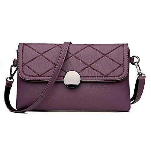 Gwqgz Single Inclined Bag Casual Bag Lady Bag Fashion New Single Gray Violet