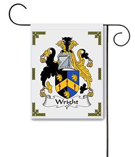 (Wright Coat of Arms/Wright Family Crest 11 X 15 Garden Flag - Made in The U.S.A.)