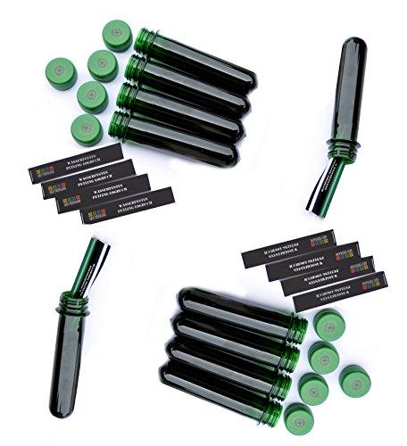 10 x Petling 13 cm groß, grün +wasserfeste Logbücher 260 Logs FTF Deckel mit Geocaching Logo - Geocaching versteck, Behälter wasserdicht, Dose
