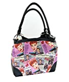 I Love Lucy Pink Collage Medium Purse, Two Way Bag Style (Pink)