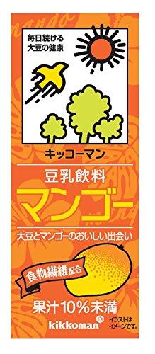 Kibun soy milk drink mango 200mlX18 this by Kikkoman