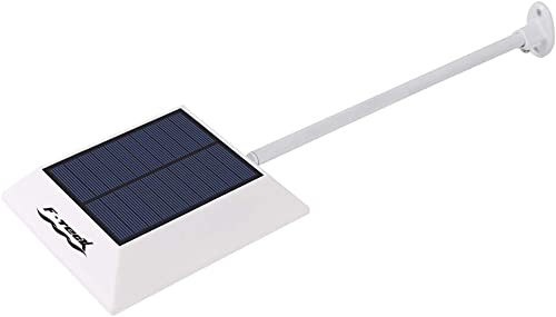 side facing f-teck 500-lumen solar gutter light