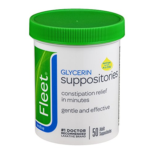 Fleet Laxative Suppositories for Adult Constipation Relief | 50 CT | 12 Pack