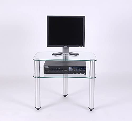 RTA Home and Office Glass And Aluminum Plasma Lcd Tv Stand For A 24 And Below Tv