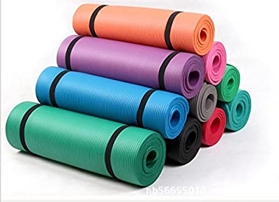 Reehut All-Purpose 1/2-Inch Extra Thick High Density NBR Exercise Yoga Mat with Carry Strap for Gymnastic Fitness