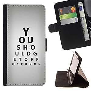 Optometrista Cita Eye Test Gris Negro- Modelo colorido cuero de la carpeta del tirón del caso cubierta piel Holster Funda protecció Para Apple (4.7 inches!!!) iPhone 6 / 6S