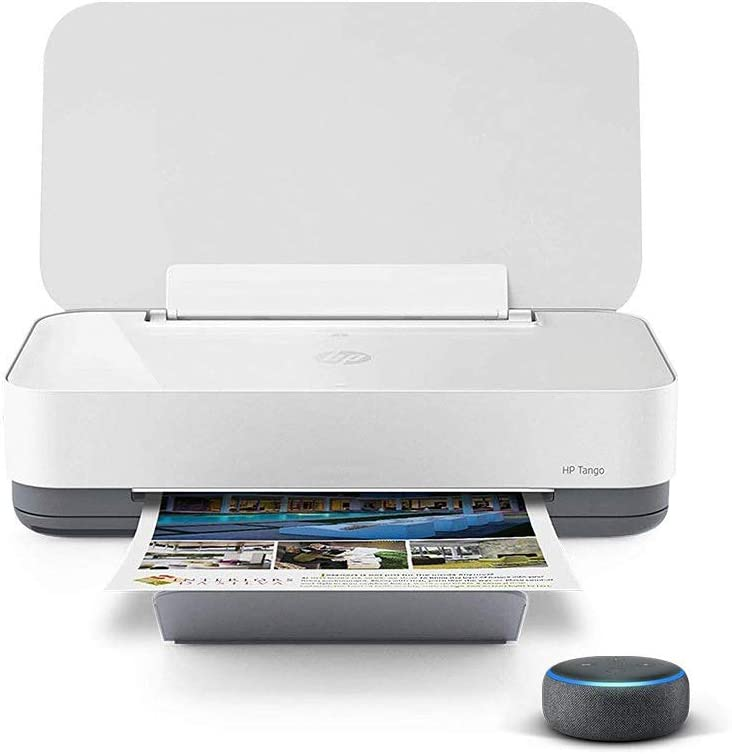 HP Tango Smart Home Printer with Echo Dot (3rd Gen) Charcoal