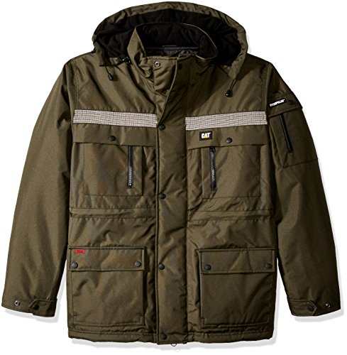 Caterpillar Men's Big Heavy Insulated Parka, Army Moss, Large/Tall
