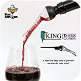 Bar Amigos® Kingfisher Aérateur de vin Aerator Verseur Pourer Vin Rouge Aeration Spout Bottle Pouring Exhausteur de gout Gadget Cadeau Potable