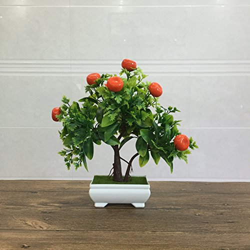 Artificial Fruit Orange Apple Lemon Tree Bonsai For Wedding Party Home Decoration Fake Green Pot Plants Flowers Ornaments