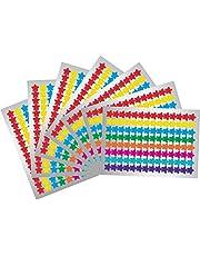 1120 Count Star Label Stickers 7 Color 3/4 inch Mini Star Sticker Reward Chart Star Stickers for Kids Teachers Classroom