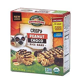 Nature's Path EnviroKidz Peanut Choco Crispy Rice Bars, Healthy, Organic, Gluten-Free, 6 Ounce Box (Pack of 6)