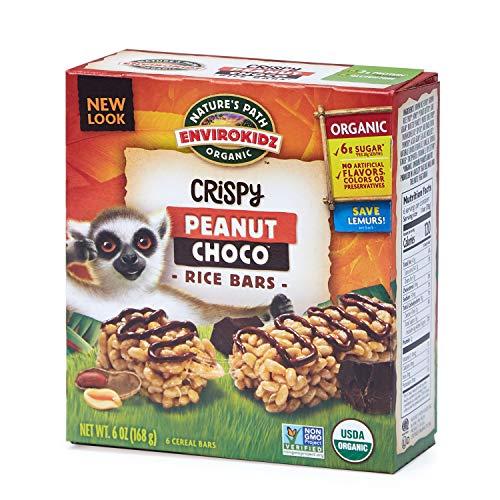 (Nature's Path EnviroKidz Peanut Choco Crispy Rice Bars, Healthy, Organic, Gluten-Free, 6 Ounce Box (Pack of 6))