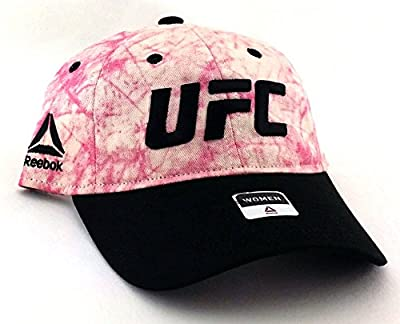 UFC Reebok RBK MMA Fight Ready Fighter Ladies Women Pink Black Strapback Hat Cap by Reebok