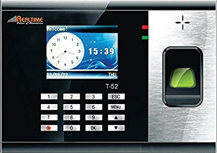 Realtime Biometric/Biomatric Time & Attendance System Realtime T52