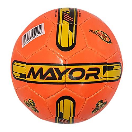 Mayor Fury PVC Football, Size: 3  Orange/Yellow