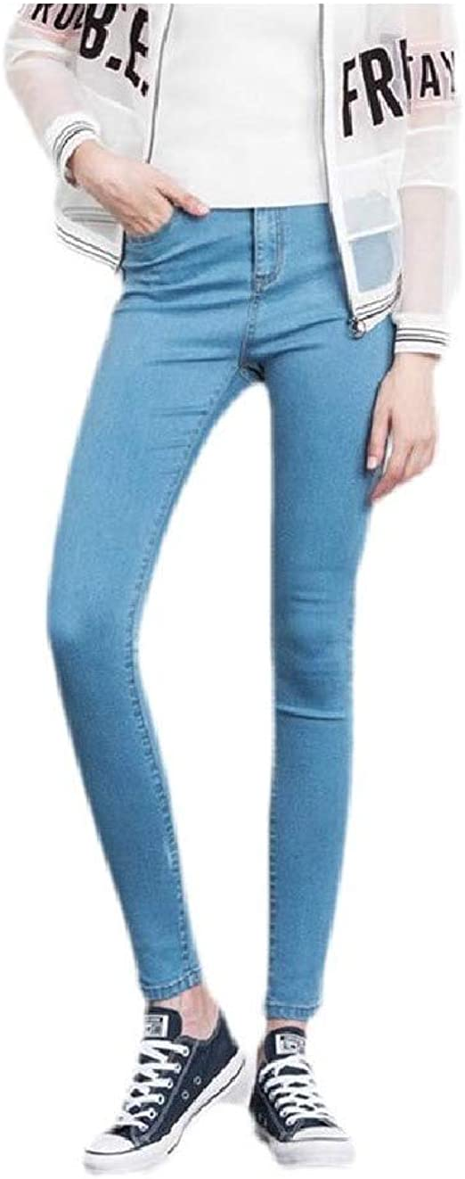 Tootess Womens Ombre Slouchy Pockets Stretch Oversize Wash High Waist Jeans Pant