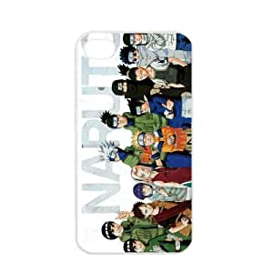 Naruto Manga Anime Comic Uzumaki Naruto Uchiha Sasuke Apple iPhone 4 / 4s TPU Soft Black or White case (White)