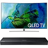 Samsung QN65Q8C Curved 65-Inch 4K Ultra HD Smart QLED TV w/ Samsung 3D Wi-Fi 4K Ultra HD Blu-ray Disc Player