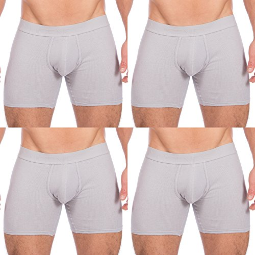 Eugenes Ribbed Cotton 4-Pack Boxer Briefs