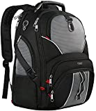 Travel Laptop Backpack, Large Computer Backpack Bag Fits 17 inch Laptop for Men Women for Hiking/School/College, Black TSA Smart Scan Bookbag with 9 Compartments made of Water-Resistant Fabric