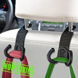 #2: MEINA Car Headrest Hook - Headrest Hooks For Car - Car Seat Hooks Organizer - Backseat Headrest Hanger Holder- Vehicle Universal Storage for Bag Purse Grocery Bottle
