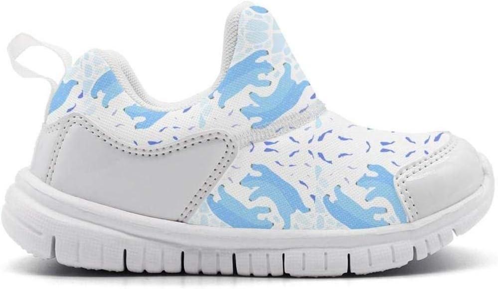 ONEYUAN Children Polar Bear Figure White Kid Casual Lightweight Sport Shoes Sneakers Running Shoes