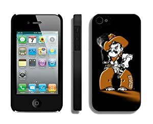 Custom Apple Iphone 4 4s Case Unique Design Phone Protective Cover Oklahoma State Cowboys 16