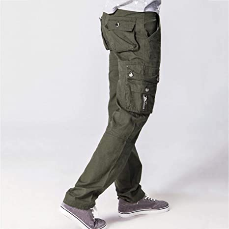 Yvelands Army Trousers Moda para Hombre al Aire Libre Casual ...