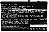 Synergy Digital Battery Compatible with Lenovo Tab 2 A10-70F Tablet Battery (Li-Pol, 3.8V, 7000 mAh) - Repl. Lenovo L14D2P31 Battery
