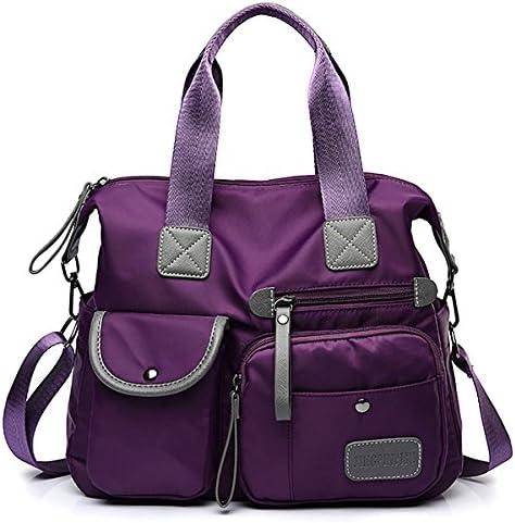 女性のナイロン防水大容量マルチポケット多機能ハンドバッグクロスバッグバッグ YZUEYT