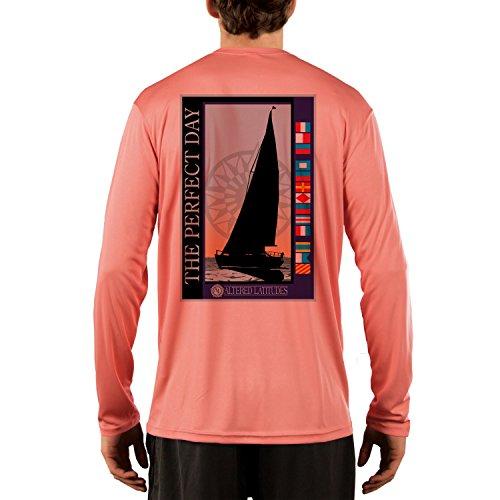Altered Latitudes Men's Perfect Day Sailing UPF 50+ Long Sleeve T-Shirt Large Salmon
