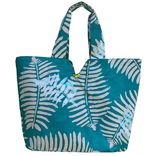 African Kitenge Print Tote Bags - Jungle Emerald