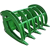 Titan HD 60'' Root Grapple Rake for John Deere Tractor Clamshell Attachment Rock