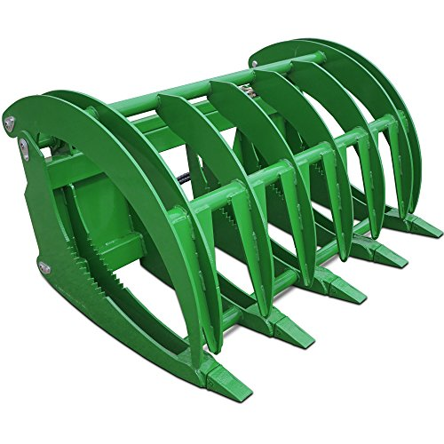 Titan HD 60'' Root Grapple Rake for John Deere Tractor Clamshell Attachment Rock by Titan Attachments