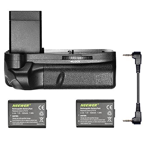 Neewer® Vertical Battery Grip with 2 Pieces LP-E10 Battery Replacement for Canon EOS 1100D / 1200D / 1300D/ Rebel T3 / T5 / T6 by Neewer