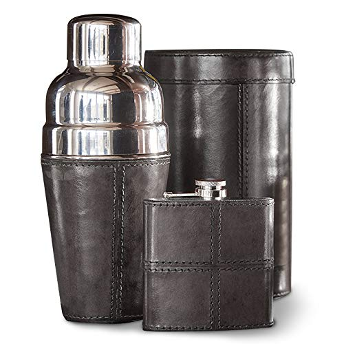 IWA Leather Barware Set Black #27192