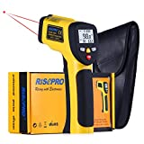 Dual Laser Infrared Thermometer, RISEPRO Digital Non-contact Portable Infrared Thermometer with Dual Laser Target Pointer -50°c to 650°c (-58°F to 1202°F) HT-817