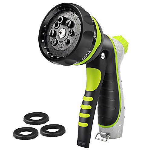 Garden Hose Nozzle Sprayer High Pressure Heavy Duty No Leak – Adjustable Water Pressure Hand Spray Nozzle for Watering Plants and Gardening, Cleaning Houses, Suitable for Washing Car and Pets