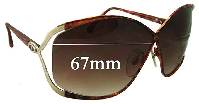 8c3b527b6e Amazon.com  SFx Replacement Sunglass Lenses fits Christian Dior Vintage  2056 67mm Wide (Polycarbonate Clear Hardcoat Pair-Regular)  Clothing