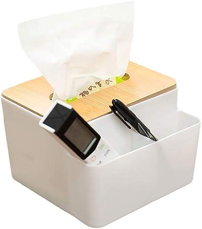 Suszian - Caja de Almacenamiento de plástico para el hogar y el salón, Caja de Almacenamiento de pañuelos de plástico multifunción, Caja de Almacenamiento para Escritorio con Mando a Distancia: Amazon.es: Hogar