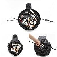 Lazy Cosmetic Bag Hirsrian Makeup Bag Toiletry Large Capacity Fashion Drawstring Portable Travel Storage Bag for Women Girls