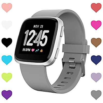 For Fitbit Versa Bands, Versa Woven Bands Breathable Canvas Fitbit Versa Replacement Bands Built-in Quick Release Pin Stainless Steel Buckle Watch Band For Fitbit Versa