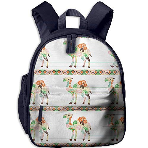 Durable Children's School Backpack With Front Pocket Flower Camel Double Zipper Travel Bag For - Front Camel Pocket