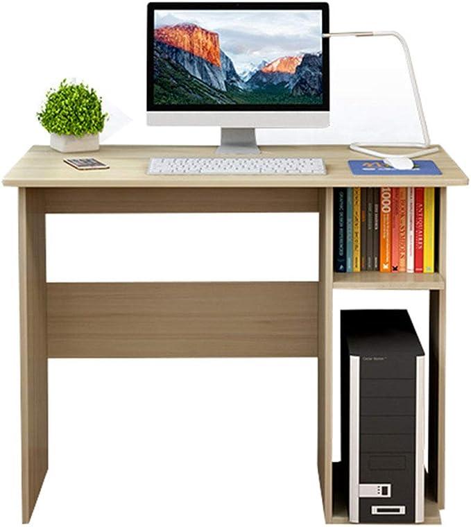 Desk Escritorio de computadora de Escritorio de 35 Pulgadas, Escritorio de Madera con estanterías Escritorio de Oficina Estudio, Banco de Trabajo de Oficina en casa fácil de Montar: Amazon.es: Hogar
